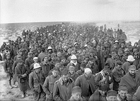Operation Compass: Italian soldiers march into Allied captivity, January 6, 1941