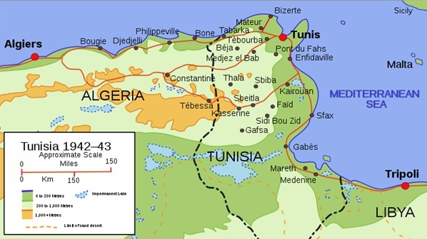 Tunisia, 1942–1943, during North African Campaign