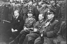 From left: Quisling, Himmler, Terboven, von Falkenhorst, Norway, May 1941