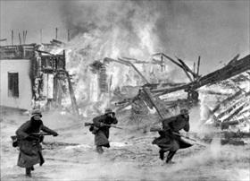 German military incursions in Europe: German assault on Norwegian village, 1940
