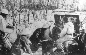 Battles of Narvik: Norwegian Army field gun