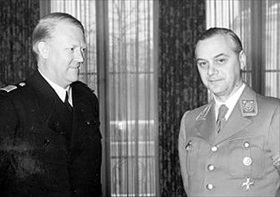 Alfred Rosenberg (right) and Vidkun Quisling, 1939