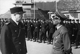 "Quisling and Terboven inspecting ""Hirden"" paramilitary unit, summer 1942"