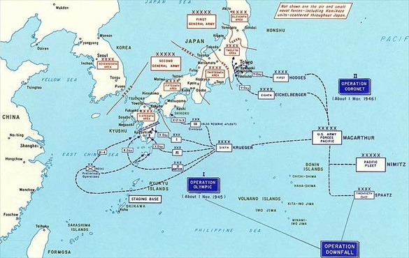 Planned U.S. Invasion of Japan, 1945–1946