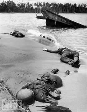 Dead GIs on Buna Beach, February 1943