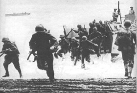 Marines on Lunga Point, Guadalcanal, August 7, 1942