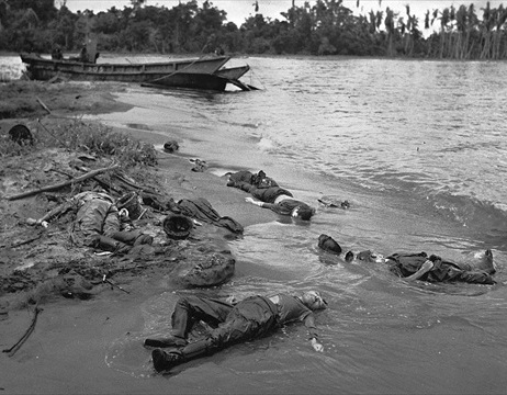 Buna-Gona Campaign: Japanese dead near Buna, January 1943