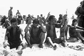 Battle of Tarawa: Japanese POWs, Tarawa, 1943