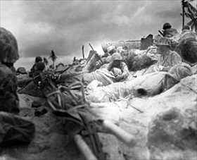 Operation Cartwheel and Battle of Tarawa: Marines on Tarawa, late November 1943