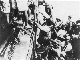 Japanese board Tokyo Express to Guadalcanal, 1942