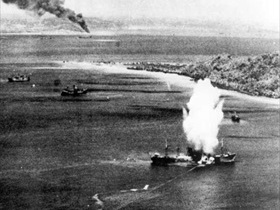 Japanese freighter torpedoed