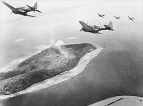 Dauntless dive bombers over Param Island