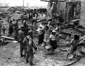 Battle of Manila: Civilian refugees-2, 1945