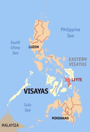 Location of Leyte Gulf, Philippines