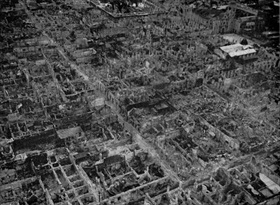 Destruction of Manila's Intramuros district, May 1945