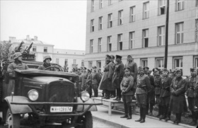 Polish Campaign: German-Soviet military victory parade, Brest-Litovsk, September 22, 1939