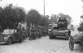 Soviet tanks on parade, Brest-Litovsk, September 22, 1939