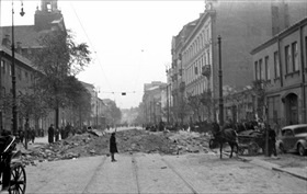 Warsaw blitz: Warsaw street, September or October 1939