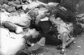 Warsaw civilians murdered by SS unit, 1944