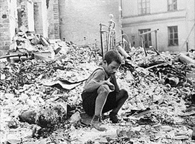 German Blitzkrieg against Poland: Nine-year-old Warsaw survivor, September 1939