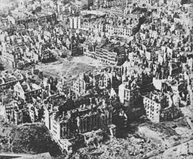 Warsaw destroyed, January 1945