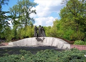 Monument to Katyn victims in Katowice, Poland