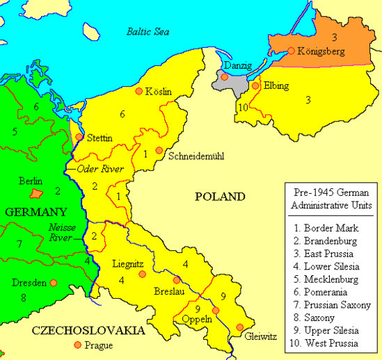 Potsdam Conference aftermath: Germany's postwar territorial losses