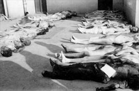 Romanian Holocaust: Makeshift Jewish morgue, Bucharest, Romania, January 23, 1941