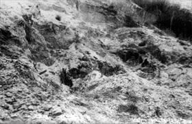 Cremation pyres, Babi Yar, Fall 1943