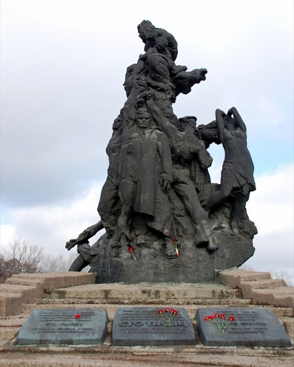 Monument to the Murdered Ones in Babi Yar, Kiev, Ukraine
