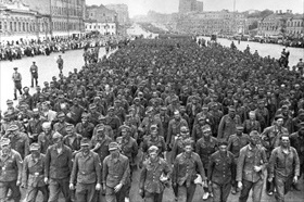 Operation Bagration: German POWs parade through Moscow streets, July 1944