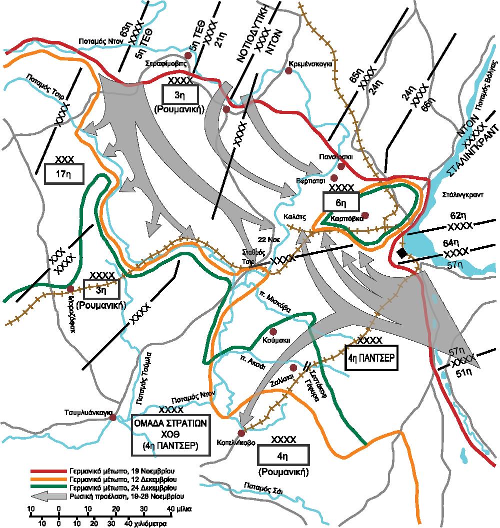 Shrinking Stalingrad perimeter, September 1942–February 1943