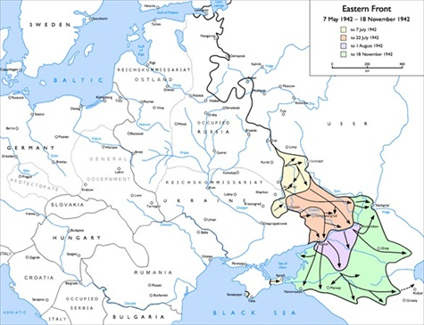 Soviet Caucasus region lying between the Black and the Caspian seas