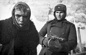 Captured German soldier