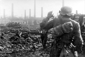 Devastated factory-scape, September 1942