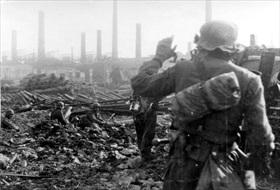 Devastated factory-scape, September 1942