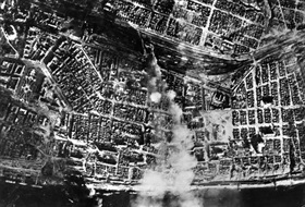 Stalingrad train station under attack, late August 1942