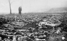 POW corpses at Syrets concentration camp, Kiev, Ukraine