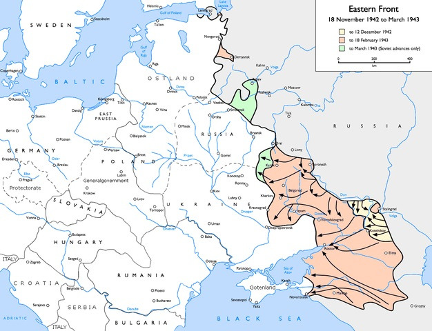 Eastern Front between mid-November 1942 and March 1, 1943