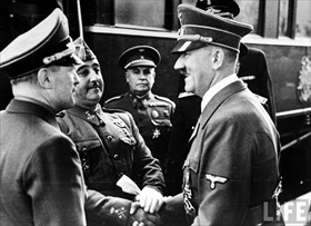 Hitler and Franco, Hendaye, October 23, 1940 (B)