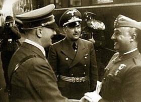 Adolf Hitler and Francisco Franco, Hendaye, October 23, 1940 (A)