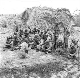 Devil's Brigade briefing, Anzio beachhead, April 1944
