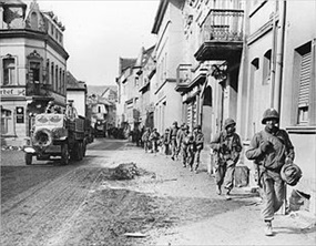 47th Infantry Regiment en route to Ludendorff Bridge, March 8, 1945