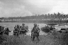 U.S. Army 1st Cavalry landing, Los Negros, February 29, 1944
