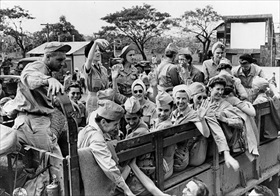 Army nurses being evacuated from Manila, February 11, 1945-2
