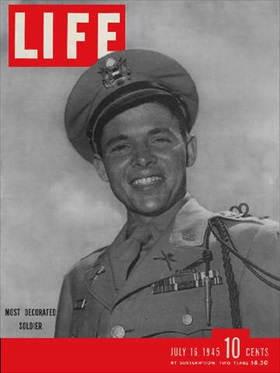 Audie Murphy on Life Magazine, July 16, 1945