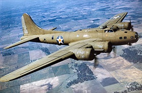 Boeing B-17E Flying Fortress in flight