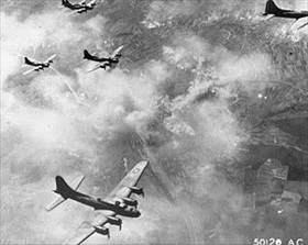 1st Bomb Wing B-17s over Schweinfurt, Germany, August 17, 1943