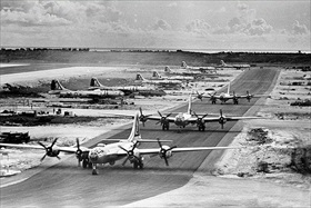 B-29s, West Field, Tinian, Mariana Islands, 1945