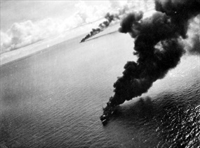 Battle of the Bismarck Sea: Beauf­ighter attack, March 3, 1943